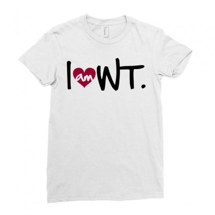 I Am Heart Wt West Texas Ladies Fitted T-shirt Designed By Curspact