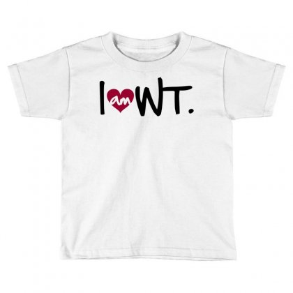 I Am Heart Wt West Texas Toddler T-shirt Designed By Curspact
