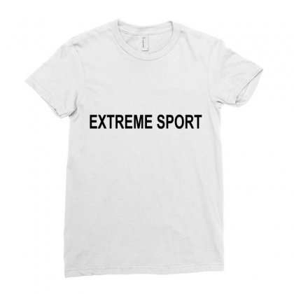 Extreme Sport Ladies Fitted T-shirt Designed By Moneyfuture17
