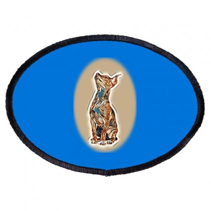 Mixed Breed Chihuahua And Minnt Of A White Ba Oval Patch Designed By Kemnabi