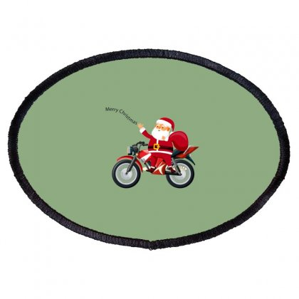 Merry Christmas Oval Patch Designed By Navi_jain