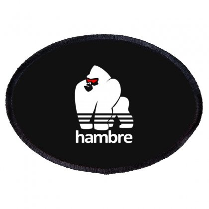 Harambe White Oval Patch Designed By Animestars