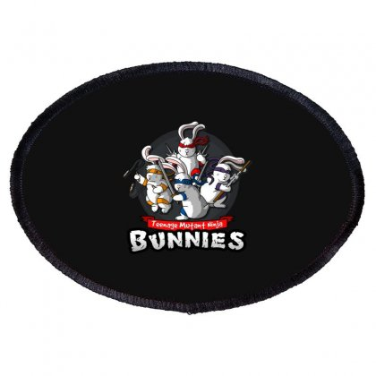 Ninja Bunnies Oval Patch Designed By Baron