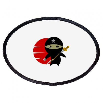 Ninja Star Oval Patch Designed By Baron