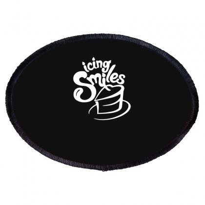 Icing Smiles Funny Oval Patch Designed By Candrashop