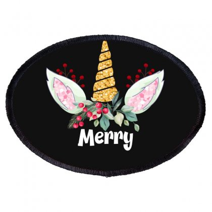 Merry Unicorn For Dark Oval Patch Designed By Hasret