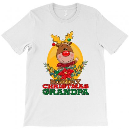 Merry Christmas Grandpa T-shirt Designed By Tiococacola