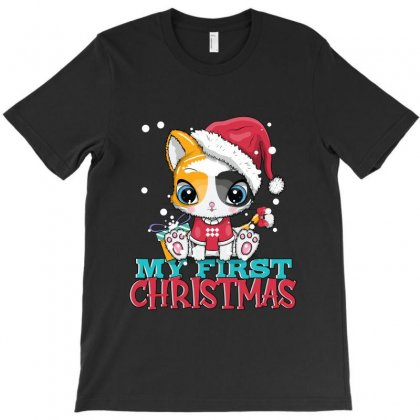 My First Christmas Girl T-shirt Designed By Tiococacola