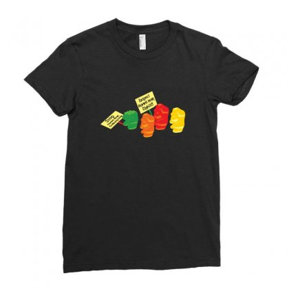 Stop Gummibear Cruelty Ladies Fitted T-shirt Designed By Baron