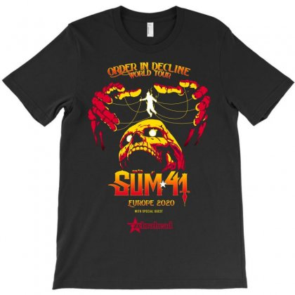 Order In Decline Sum41 Europe 2020 T-shirt Designed By Nugrahadamanik