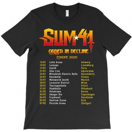 Order In Decline Sum41 Europe 2020 Dates T-shirt Designed By Nugrahadamanik