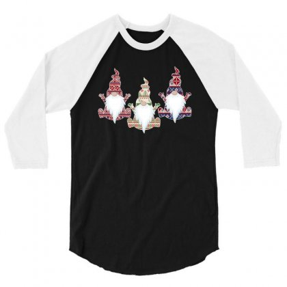 Ugly Christmas Sweater Gnome For Dark 3/4 Sleeve Shirt Designed By Sengul