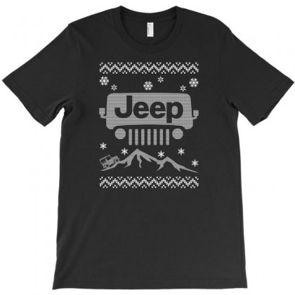 Christmas Jeep For Dark T-shirt Designed By Gurkan
