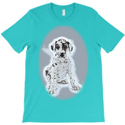 Row Of Cats And Dogs Hanging Anner. Image Siz T-shirt Designed By Kemnabi