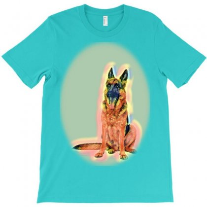 Pet Eating Foot. Dog And Cat T-shirt Designed By Kemnabi