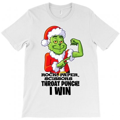 Rock, Paper Scissors Grinch Edition T-shirt Designed By Tiococacola