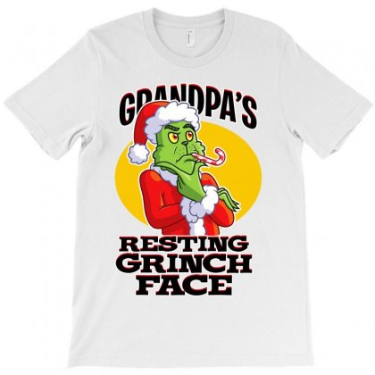 Grandpa's Resting Grinch Face T-shirt Designed By Tiococacola