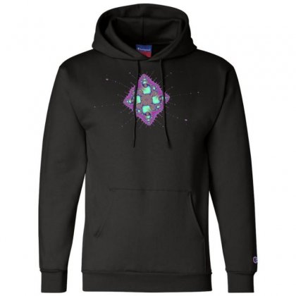 Rhomboid Spiral Fractal Champion Hoodie Designed By Zykkwolf