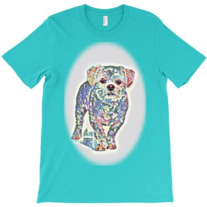 Dogs Isolated On White T-shirt Designed By Kemnabi