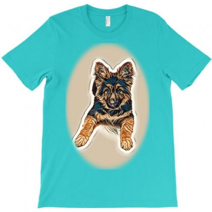 Dog Eating Food From Bowl. Puth Dogs Food T-shirt Designed By Kemnabi