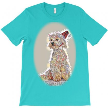 Yellow Labrador Dog And Cat Tg To Side With R T-shirt Designed By Kemnabi