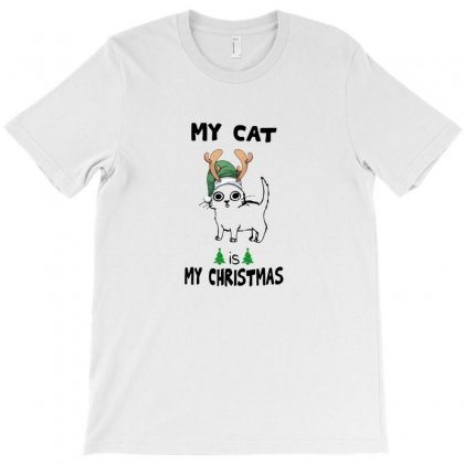 My Cat Is My Christmas T-shirt Designed By Arsa