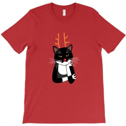 Sarcastic Annoyed Christmas Cat T-shirt Designed By Arsa