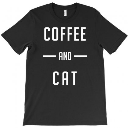 Coffee And Cat T-shirt Designed By Bud1