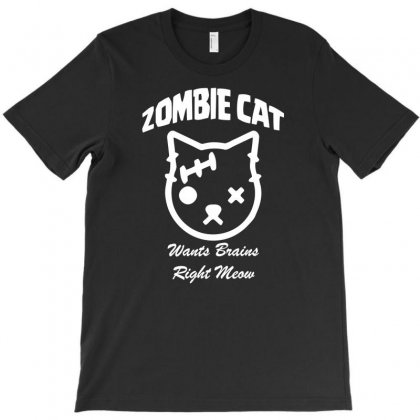 Crazy Cat Lady Zombie T-shirt Designed By Bud1
