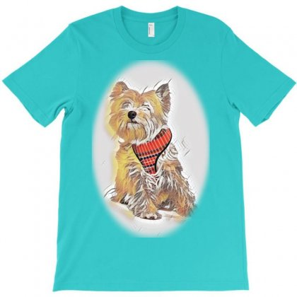 Naughty Dog - Lying Dog In Thf Mess In The Kitchen. T-shirt Designed By Kemnabi
