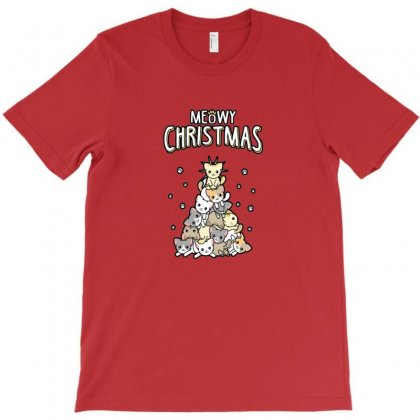 Meowy Christmas T-shirt Designed By Arum