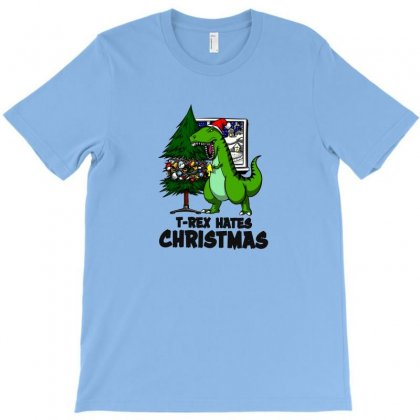 T Rex Hates Christmas T-shirt Designed By Arum