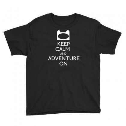 Keep Calm And Adventure On Youth Tee Designed By Bud1