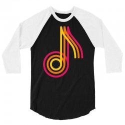 music note tricolor funny 3/4 Sleeve Shirt | Artistshot