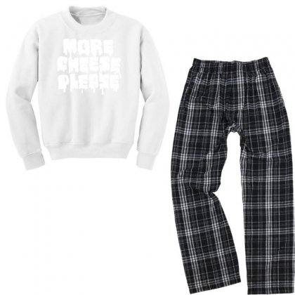 More Cheese Please Youth Sweatshirt Pajama Set Designed By Bud1