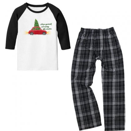 Have Yourself A Merry Little Christmas Youth 3/4 Sleeve Pajama Set Designed By Gurkan