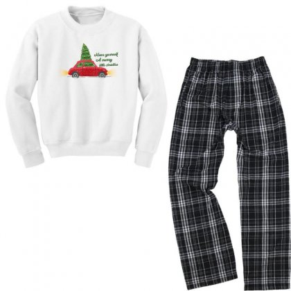 Have Yourself A Merry Little Christmas Youth Sweatshirt Pajama Set Designed By Gurkan