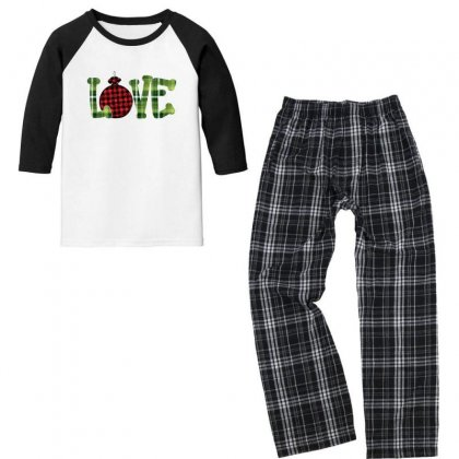 I Love You Christmas For Dark Youth 3/4 Sleeve Pajama Set Designed By Gurkan