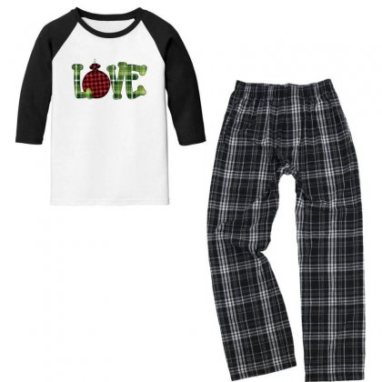 I Love You Christmas For Light Youth 3/4 Sleeve Pajama Set Designed By Gurkan