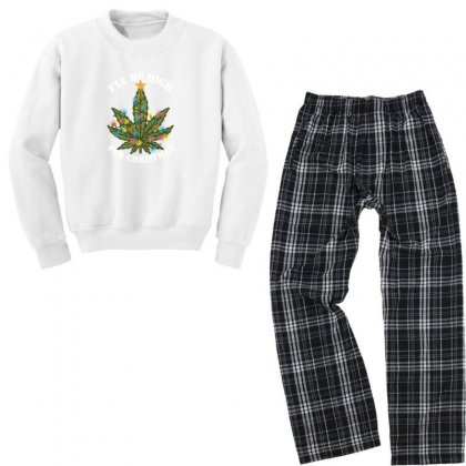 I'll Be High For Christmas For Dark Youth Sweatshirt Pajama Set Designed By Gurkan