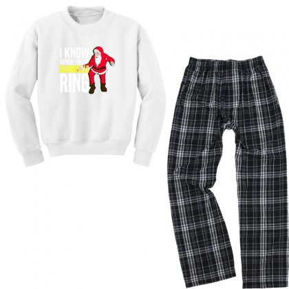 I Know When Them Sleighbells Ring Youth Sweatshirt Pajama Set Designed By As99