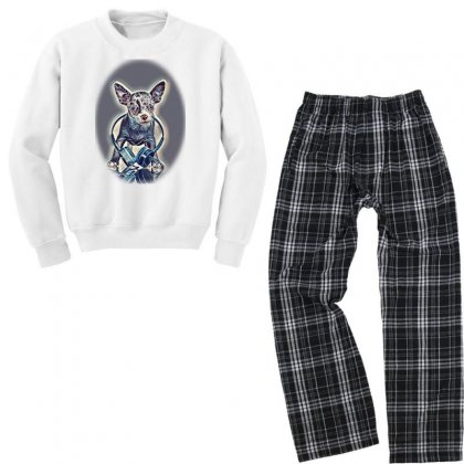 Cropped Image Of Romantic Couity With Their D Youth Sweatshirt Pajama Set Designed By Kemnabi