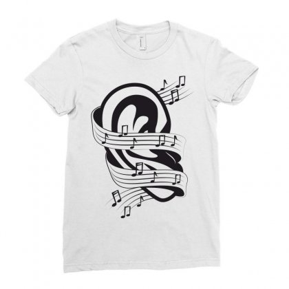 Music Ladies Fitted T-shirt Designed By Estore