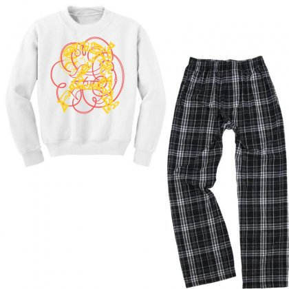 Lettre A2 Youth Sweatshirt Pajama Set Designed By Nowlam