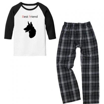 Best Friend Youth 3/4 Sleeve Pajama Set Designed By Skarfst
