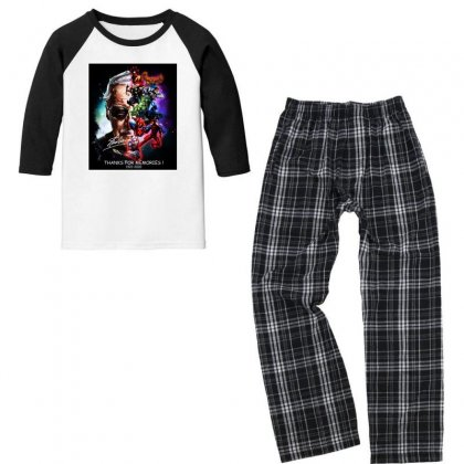 Stan Lee Thanks For The Memories Youth 3/4 Sleeve Pajama Set Designed By Lotus Fashion Realm