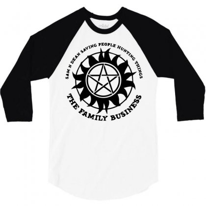 Sam And Dean Saving People 3/4 Sleeve Shirt Designed By Bud1