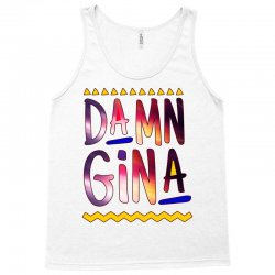 cause im a lady damn gina black Tank Top | Artistshot