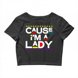 cause im a lady damn gina Crop Top | Artistshot