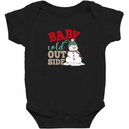 Baby It's Cold Outside Christmas Baby Bodysuit